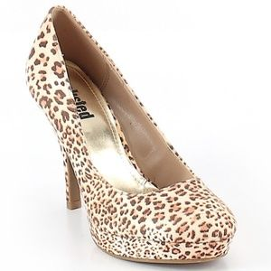 New Kenneth Cole Unlisted Cheetah Platform Heels